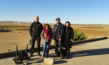 TATORT Delegation visits village near Kobanê