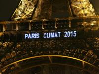 Eiffel Tower Banner for Climate Summit 2015