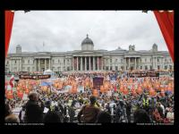 10.000 people, Trafalgar Sq, supporting the London Citiz campaign. Ph: C Jepson
