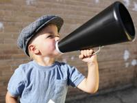 Picture of boy with megaphone