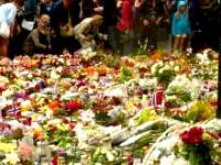 Picture of sea of roses after 22 July terrorist attack in Oslo