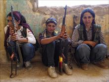Image of women defending Kobane
