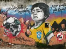 Graffitti from Rio de Janeiro protesting the world cup