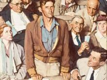 Norman Rockwell on New England town meeting