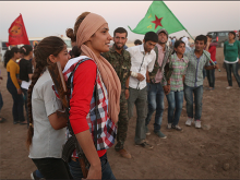 Picture of women fighters from Rojava