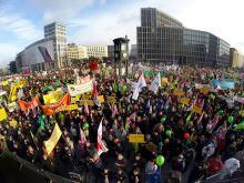Demonstration in Berlin against TTIP