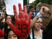 The protest movement demand justice for the 43 students