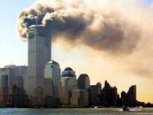 World Trade Center ablaze