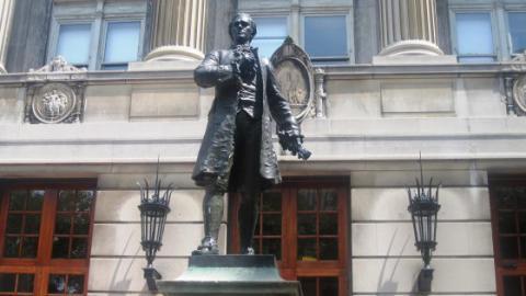 Hamilton statue at Colombia University