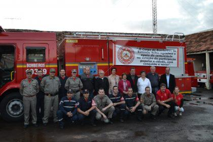 Fire truck financed through the Popular and Citizen Participation Process in Rio Grande do Sul, Brazil