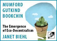 Banner for Janet Biehl's pamphlet on Eco-Decentralism