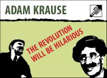"Banner for the Publication ""The Revolution Will Be Hilarious"""